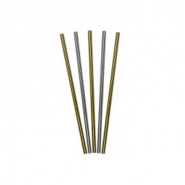 10 Palhinhas de Papel Brilhante 19, 5 cm