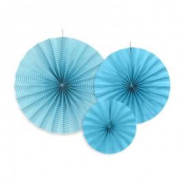 3 Rosetones Azules Varios Modelos