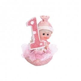 Figura de Niña Primer Año 7 cm