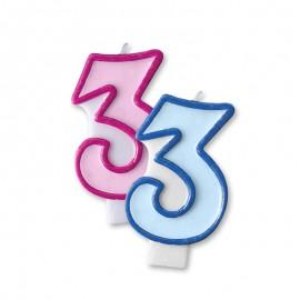 Vela Aniversário nº3