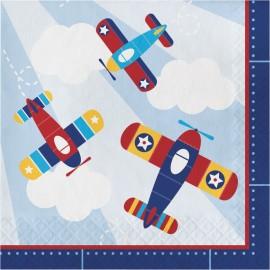 16 Servilletas Avionetas 33 cm