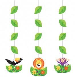 3 Decorativos Pendentes Animais da selva