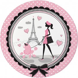 8 Pratos Paris 23 cm
