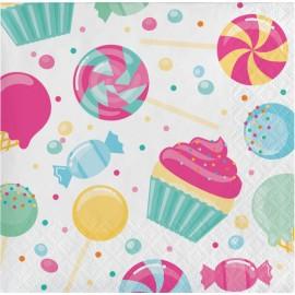 16 Guardanapos Candy 25 cm