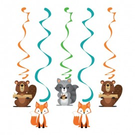5 Decorativos Pendentes Animais da floresta