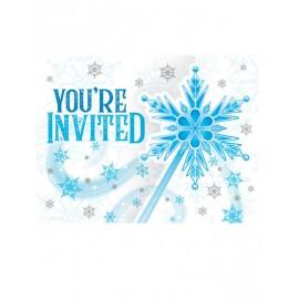 8 Convites Copos de Nieve