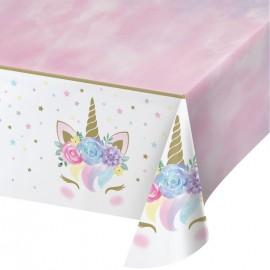 Toalha de Mesa Unicornio Baby de Plástico 132 x 259 cm