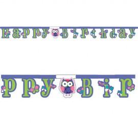 Guirlanda Happy Birthday Coruja