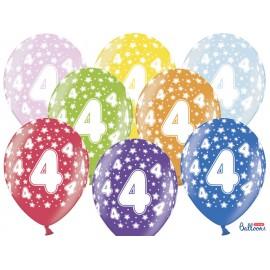 Balões Número 4 Redondo 32 cm