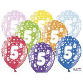 Balões Número 5 Redondo 32 cm