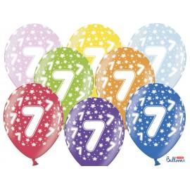 Balões Número 7 Redondo 32 cm