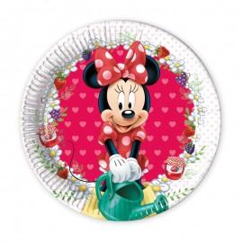 8 Platos Minnie Mouse Jardín 20 cm