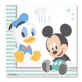 20 Guardanapos Baby Mickey 33 cm