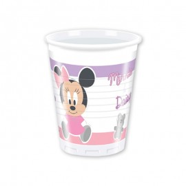 8 Copos Baby Minnie 200 ml