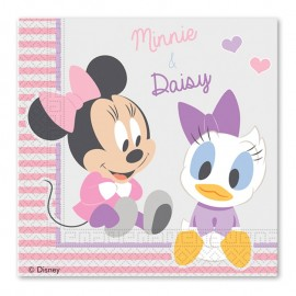 20 Servilletas Baby Minnie 33 cm