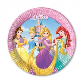 8 Pratos Princesas Disney 20 cm