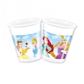 8 Vasos Princesas Disney