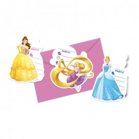 6 Invitaciones Princesas Disney