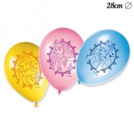 8 Balões de Princesas Disney 28 cm