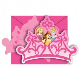 6 Invitaciones Princesas Dream Disney