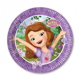 8 Pratos Princesa Sofia 20 cm