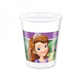 8 Copos Princesa Sofia 200 ml