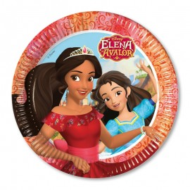 8 Pratos Elena de Avalor 23 cm