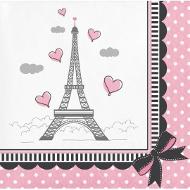 18 Guardanapos Sweet 16 Paris 33 cm
