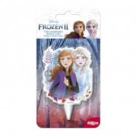 Vela 2D Cumpleaños Frozen 2 7,5 Cm