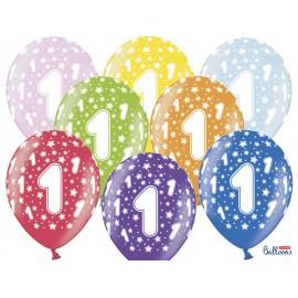 Balões Número 1 Redondo 32 cm