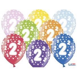 Balões Número 2 Redondo 32 cm