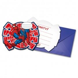 6 Convites Homem Aranha