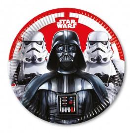 8 Pratos Star Wars 23 cm