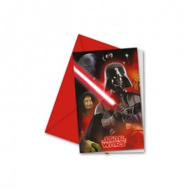 6 Convites Star Wars