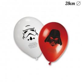 8 Balões de Star Wars 28 cm