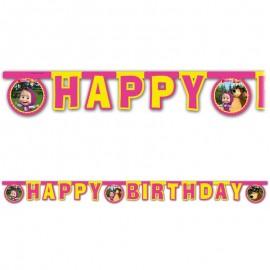 Grinalda Happy Birthday Masha e o Urso