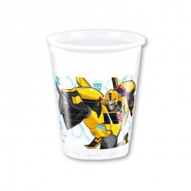 8 Copos Transformers 200 ml
