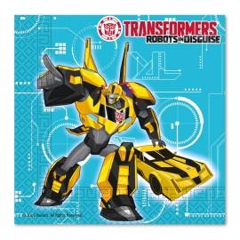 20 Guardanapos Transfomers 33 cm