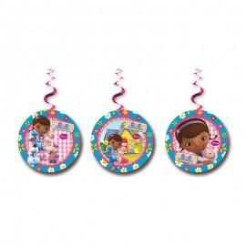 3 Decorativos Pendentes Dr Brinquedos