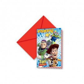 6 Convites Toy Story