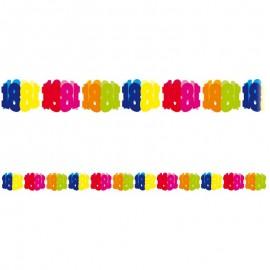 Grinalda de Papel Número 18 Multicolor 6 m