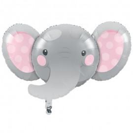 Balão Foil Elefantito rosa