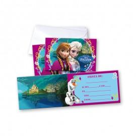6 Convites Frozen com Envelope