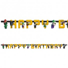 Guirlanda Happy Birthday Lego Batman 180 x 15 cm