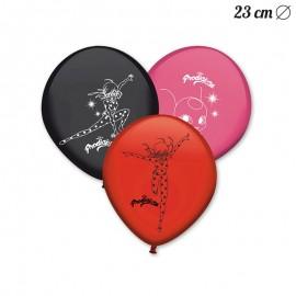 8 Balões Látex Ladybug