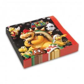 20 Guardanapos Super Mario 33 cm