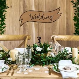 2 Cartazes para Casamento Kraft
