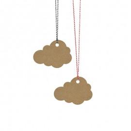 6 Etiquetas forma Nuvem com Corda