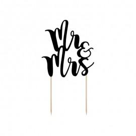 Topo para Bolos Mr e Mrs