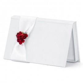 Envelopes para Casamentos Brancos com Flores Vermelhas
